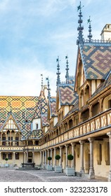 BEAUNE,FRANCE - AUGUST 28,2015 - The Hospices de Beaune is a former charitable almshouse in Beaune. It was founded in 1443 by Nicolas Rolin, chancellor of Burgundy, as a hospital for the poor.