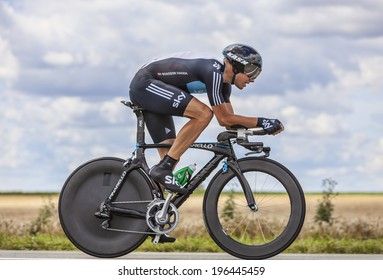 BEAUROUVRE,FRANCE,JUL 21:The Norwegian cyclist Boasson Hagen from Team Sky pedaling during the 19 stage- a time trial between Bonneval and Chartres on July 21 2012.