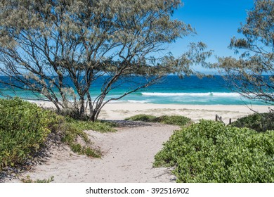 A beautfil 7 mile long beach hidden away of the road on the Easter coastline of Australia