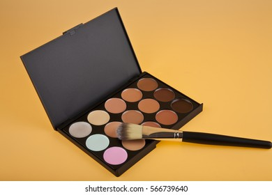 beautician on a beige background close-up