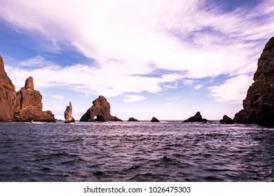 Beautifu island Dokdo is the east end territory of Republic of Korea.