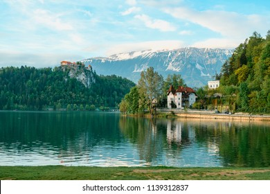 Beautifu Lake Bled in Slovenia