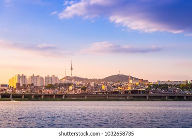Beautifu seoul city in Daytime, South Korea.