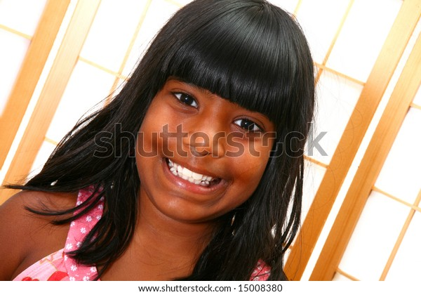 Beautiful 10 Year Old Indian Girl Stock Photo (Edit Now) 15008380