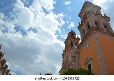 Beautiful 1500s Church/Cathedral in City Jerez, Zacatecas, Mexico