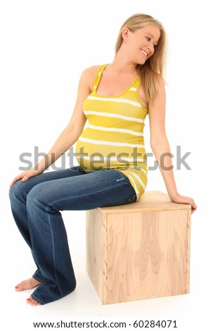 19 Year Old Pregnant Young Happy Woman Stock Photo - Image