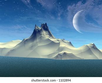 Beautiful 3d landscape
