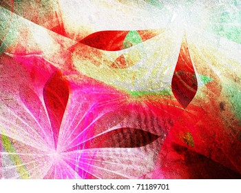 Beautiful abstrac fractal deisgn with texture