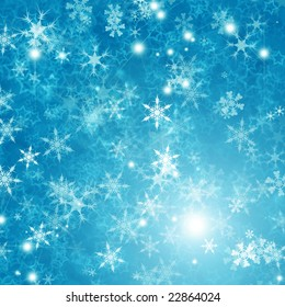 Beautiful abstract background of holiday lights/ Snowflake