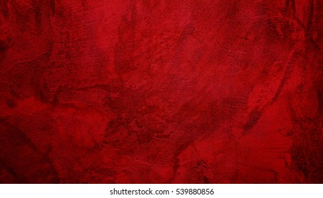 Beautiful Abstract Grunge Decorative Dark Red Stucco Wall Background. Valentines Christmas Design Layout. Art Rough Stylized Texture Banner With Copy Space. - Shutterstock ID 539880856