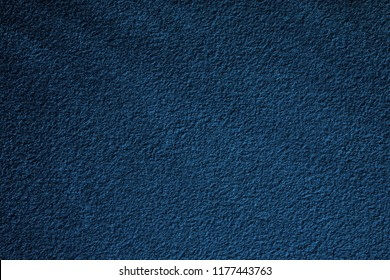 Beautiful Abstract Grunge Decorative Navy Blue Dark Stucco Wall Background. Art Rough Stylized Texture Banner With Space For Text.