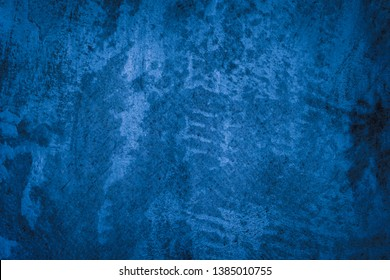 Beautiful Abstract Grunge Decorative Navy Blue Dark Stucco Wall Background.