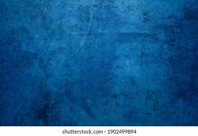 Beautiful Abstract Grunge Decorative Navy Blue Dark Stucco Wall Background. Concrete Wall for Background With Space For Text and design.