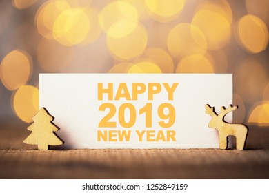 Beautiful abstract of Happy 2019 New Year.