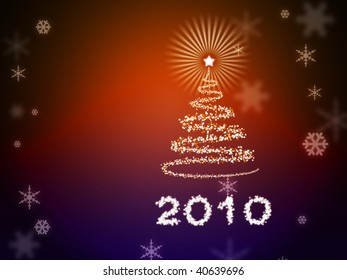 Beautiful abstract New Year background