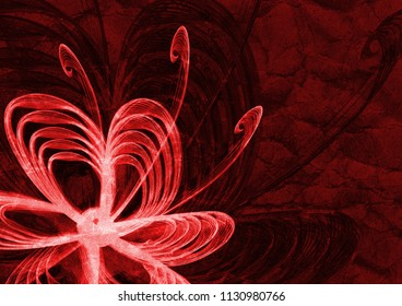 beautiful abstract ornament flower textured background, floral red texture backdrop