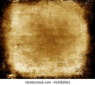 Beautiful abstract vintage grunge background with faded central area for your text or picture, scratched yellow background