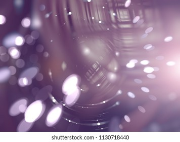 Beautiful abstract violet bokeh background. Illustration for design.