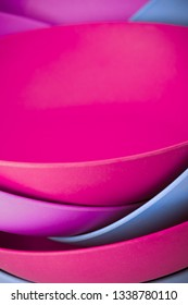 beautiful abstraction of several plates. photo close up.