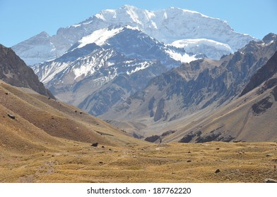 Beautiful Aconcagua at 6900 meters, Argentina