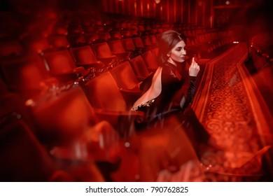 Beautiful actress in theater