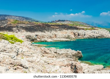 Beautiful adriatic coast which suffered series of wildfires
