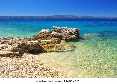 beautiful adriatic sea coastline at Podgora Croatia