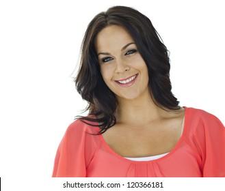 Beautiful Adult Smiling Latin Woman