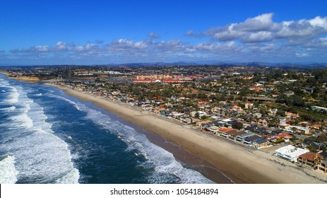 A beautiful aerial, birds eye view of Del Mar in San Diego county California