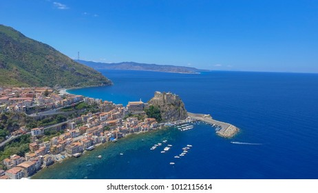 Beautiful aerial coast of Calabria in summer, Italy.