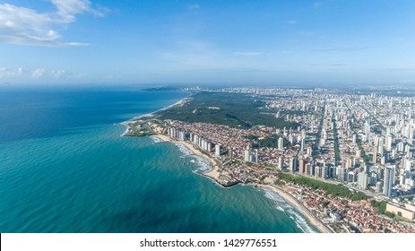 Beautiful aerial image of the city of Natal, Rio Grande do Norte, Brazil.