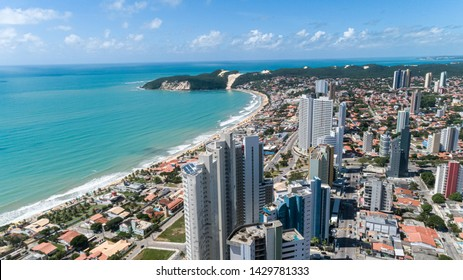 Beautiful aerial image of the city of Natal, Rio Grande do Norte, Brazil.