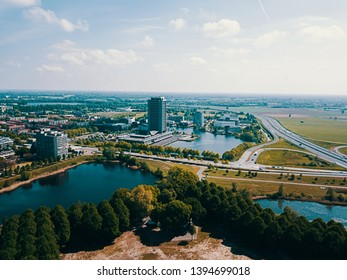 Beautiful aerial photo of the Den Bosch City, Noord Brabant, the Netherlands Europe - Shutterstock ID 1394699018