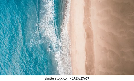 beautiful aerial sand beach and blue sea view of the patara beach