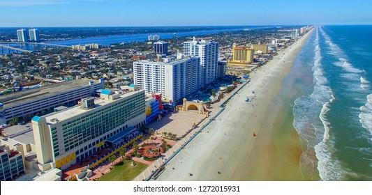 Beautiful aerial view of aytona Beach, Florida.