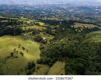 Beautiful aerial view of the Barva Volcano in Costa Rica - Shutterstock ID 1318675367