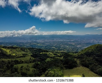Beautiful aerial view of the Barva Volcano in Costa Rica - Shutterstock ID 1318675388
