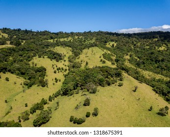 Beautiful aerial view of the Barva Volcano in Costa Rica - Shutterstock ID 1318675391