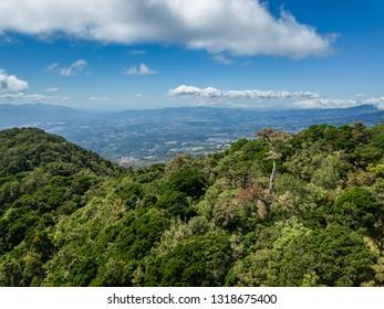 Beautiful aerial view of the Barva Volcano in Costa Rica - Shutterstock ID 1318675400