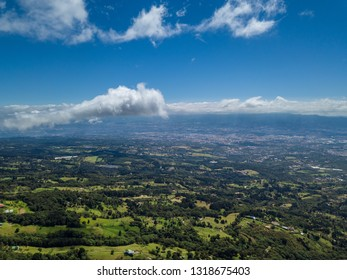 Beautiful aerial view of the Barva Volcano in Costa Rica - Shutterstock ID 1318675403