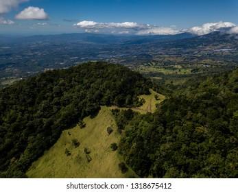 Beautiful aerial view of the Barva Volcano in Costa Rica - Shutterstock ID 1318675412