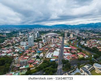 Beautiful aerial view of Costa Ricas San Jose city