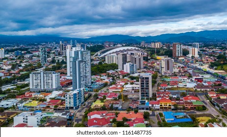 Beautiful aerial view of Costa Ricas San Jose city