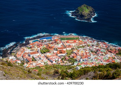 beautiful aerial view of Garachico village in Tenerife, Canary Islands, Spain