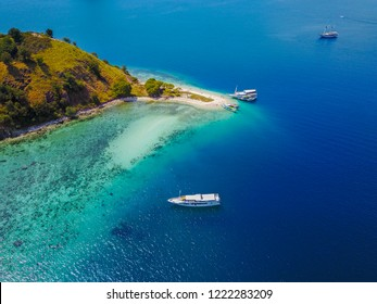 Beautiful aerial view of Gili Laba island, Flores, Indonesia