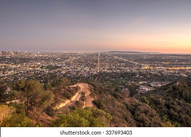Beautiful aerial view in Los angeles. view from the observatory