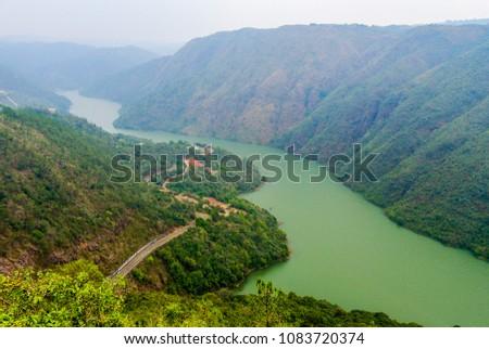 Beautiful Aerial View of Mawphlang Dam