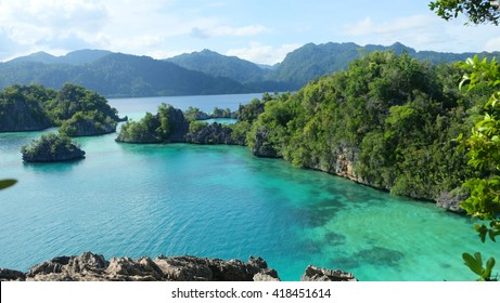 The beautiful aerial view sombori island located at southeast sulawesi Indonesia