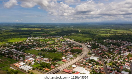 Beautiful aerial view of the town of Canas Guanacaste, Costa Rica