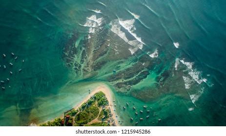 Beautiful Aerial view of tropical coastline